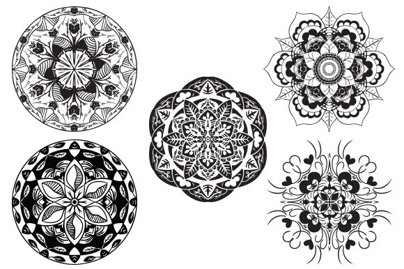 Download Free Mandala Pack Drawing Illustration Graphic By Redsugardesign for Cricut Explore, Silhouette and other cutting machines.