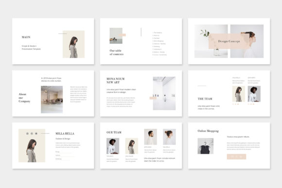 Print on Demand: Maon - Fashion Powerpoint Presentation Template Graphic Presentation Templates By pixasquare - Image 2