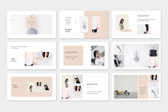 Print on Demand: Maon - Fashion Powerpoint Presentation Template Graphic Presentation Templates By pixasquare - Image 3