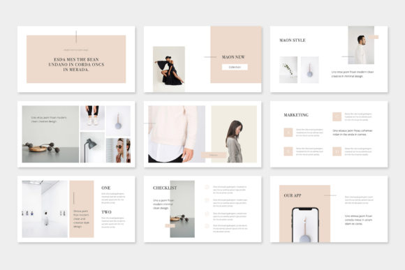 Print on Demand: Maon - Fashion Powerpoint Presentation Template Graphic Presentation Templates By pixasquare - Image 4