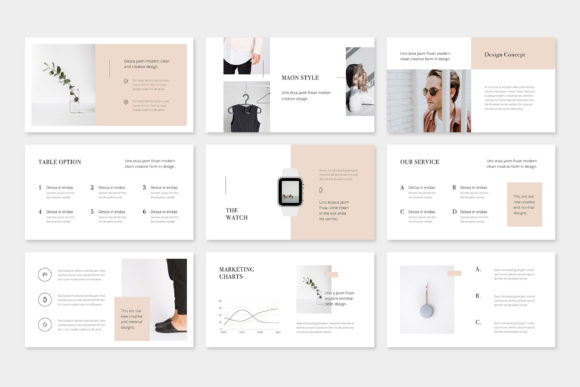 Print on Demand: Maon - Fashion Powerpoint Presentation Template Graphic Presentation Templates By pixasquare - Image 5