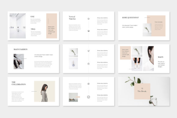Print on Demand: Maon - Fashion Powerpoint Presentation Template Graphic Presentation Templates By pixasquare - Image 6
