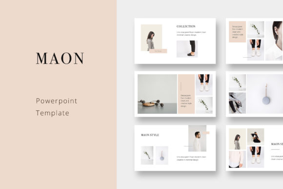 Print on Demand: Maon - Fashion Powerpoint Presentation Template Graphic Presentation Templates By pixasquare - Image 1