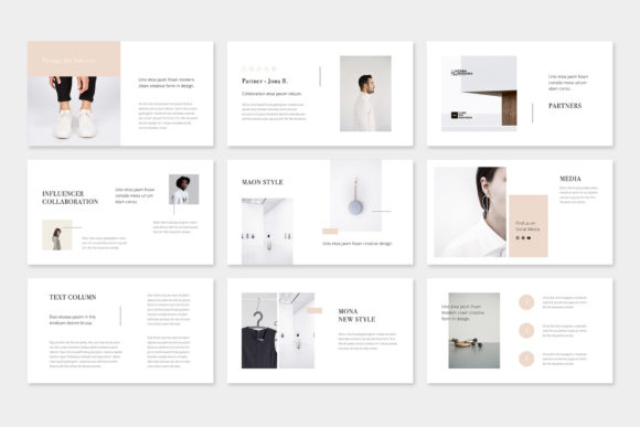 Print on Demand: Maon - Fashion Powerpoint Presentation Template Graphic Presentation Templates By pixasquare - Image 7