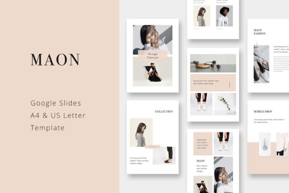 Print on Demand: Maon - Vertical Google Slide A4 + US Letter Presentation Template Gráfico Plantillas para Presentaciones Por pixasquare