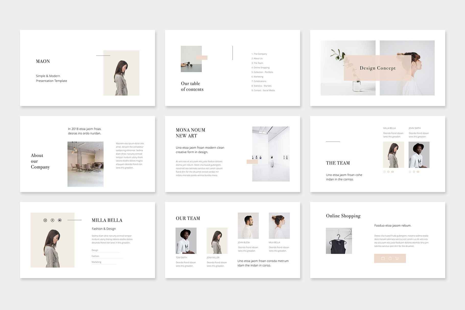 Maon Vertical Keynote A4 Us Letter Presentation Template Graphic By Pixasquare Creative Fabrica