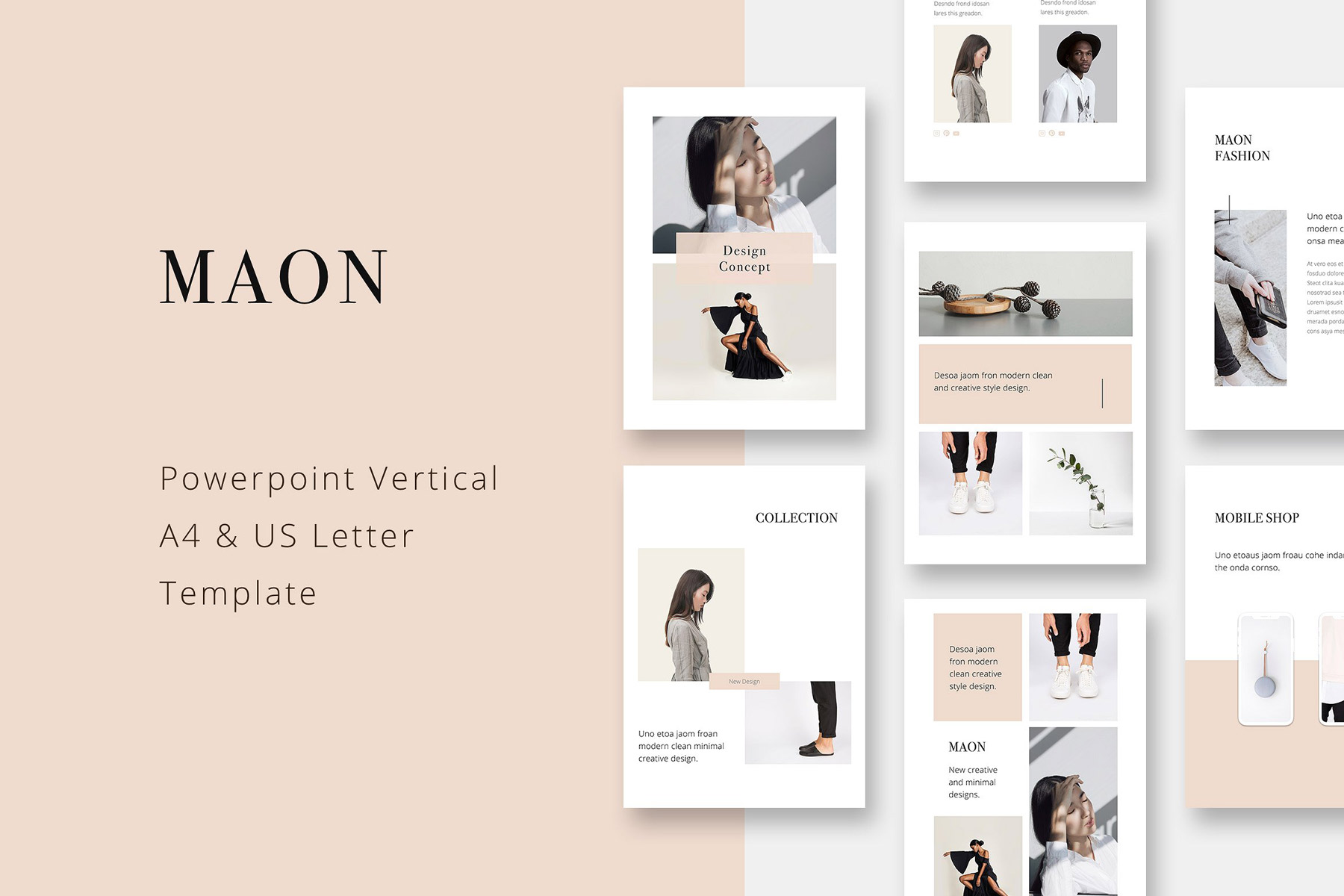 Download Free Maon Vertical Powerpoint A4 Us Letter Presentation Template for Cricut Explore, Silhouette and other cutting machines.