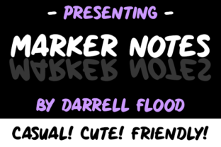 Marker Notes Font By Dadiomouse