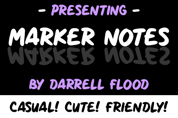 Marker Notes Font By Dadiomouse Image 1