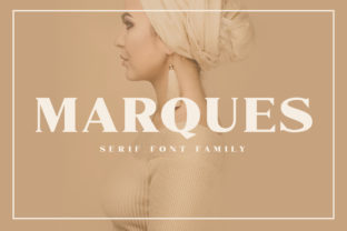 Print on Demand: Marques Family Serif Font By craftsupplyco