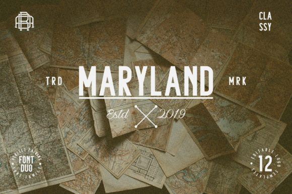 Maryland Family Font By Adriansyah Image 2