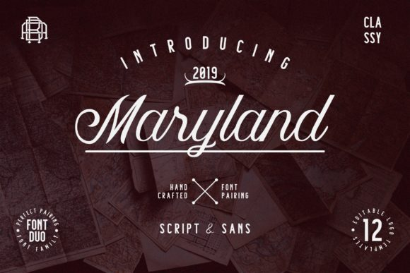 Print on Demand: Maryland Family Script & Handwritten Font By Adriansyah