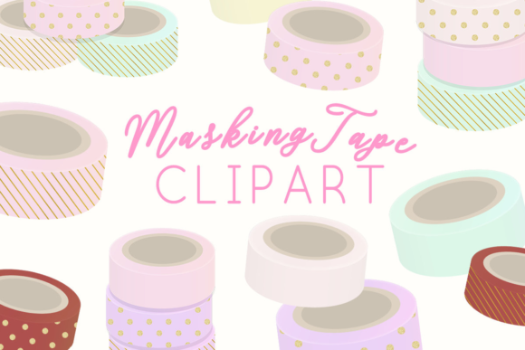 Print on Demand: Masking TapeIllustration Clipart Graphic Illustrations By lilyuri0205