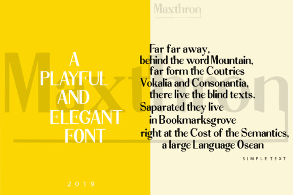 Print on Demand: Maxthron Family Display Font By luckytype.font - Image 7