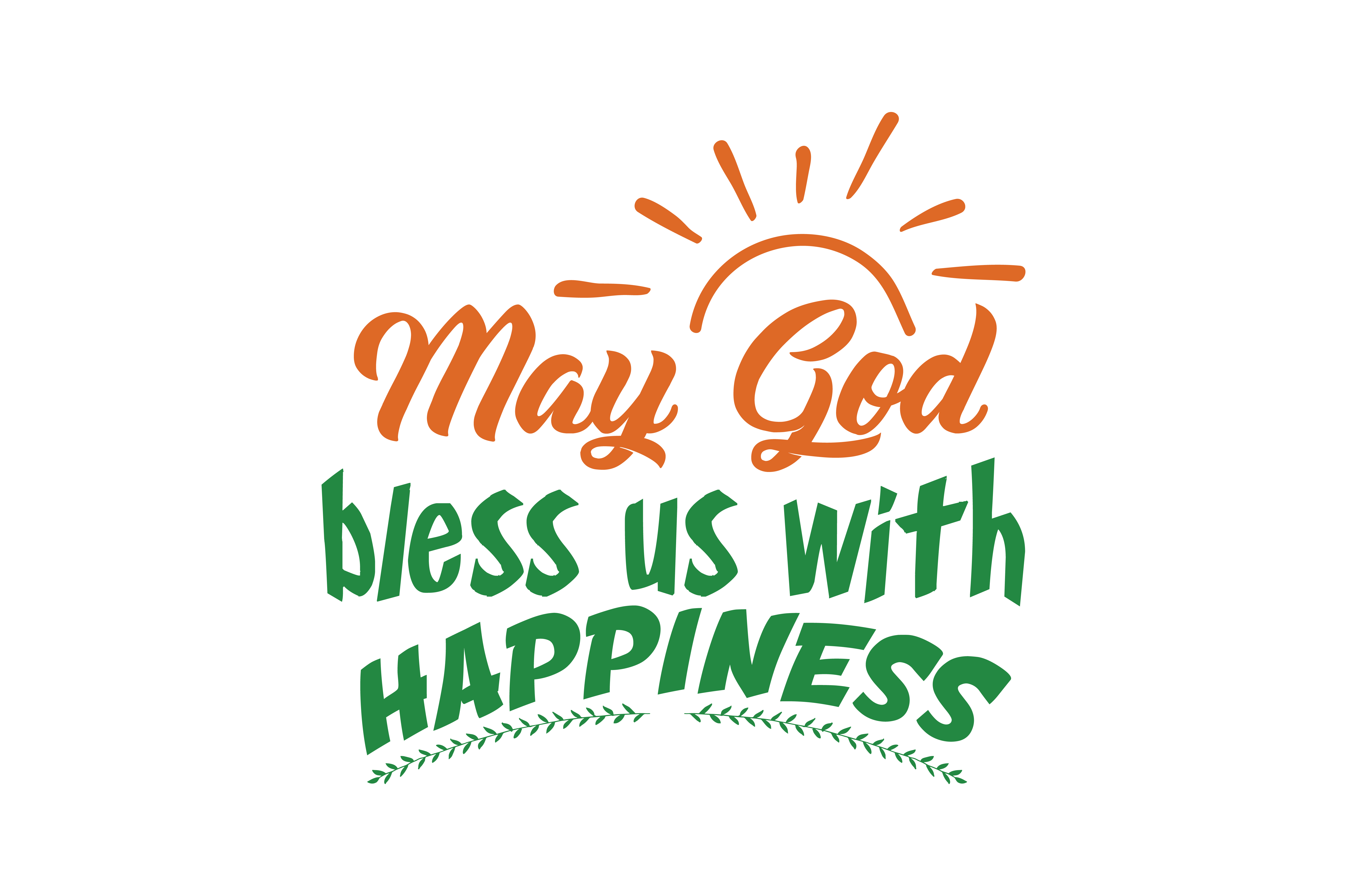 Download Free May God Bless Us With Happiness Quote Svg Cut Graphic By for Cricut Explore, Silhouette and other cutting machines.