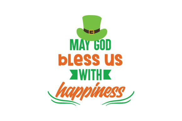 god bless us happiness quote svg cut grafico por