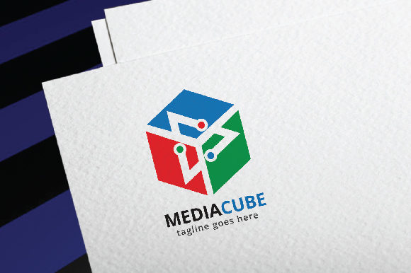 Media Cube Graphic Logos By da_only_aan