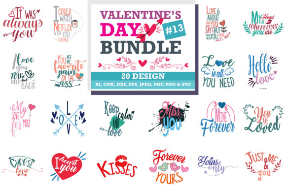 Download Free Mega Bundle Valentine S Day Graphic By Thelucky Creative Fabrica SVG Cut Files