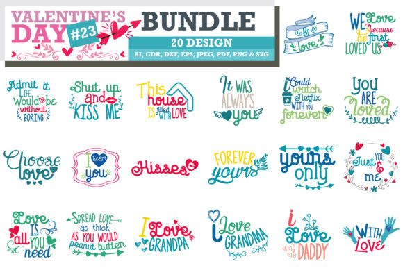 Download Free Mega Bundle Svg Valentine S Day Graphic By Thelucky Creative for Cricut Explore, Silhouette and other cutting machines.