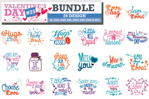 Print on Demand: Mega Bundle Valentine's Day Graphic Crafts By TheLucky - Image 6