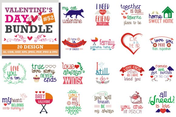 Download Free Mega Bundle Valentine S Day Grafik Von Thelucky Creative Fabrica SVG Cut Files