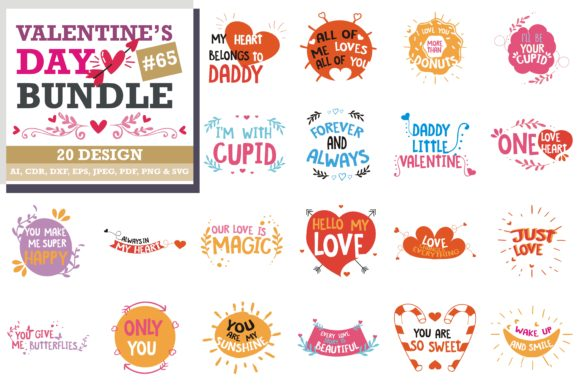 Mega Bundle Valentine S Day Graphic By Thelucky Creative Fabrica