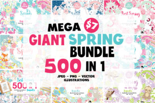 Print on Demand: Mega Spring Bundle Graphic Illustrations By Prettygrafik