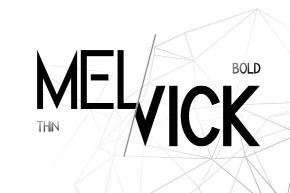 Melvick Family Font By dmletter31 Image 2