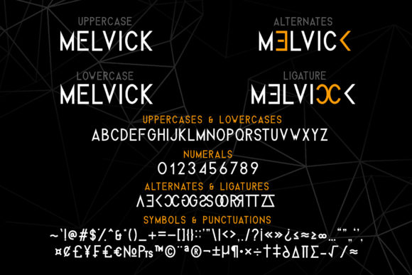 Melvick Family Font By dmletter31 Image 4