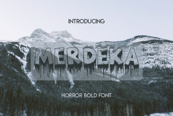 Print on Demand: Merdeka Blackletter Font By Docallisme