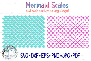 Mermaid Scale Patterns Graphic By WispyWillowDesigns