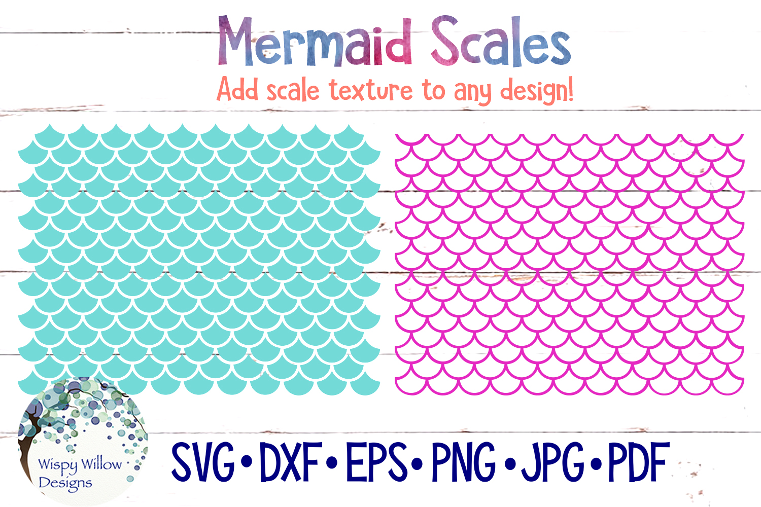 Download Free Mermaid Scale Patterns Graphic By Wispywillowdesigns Creative for Cricut Explore, Silhouette and other cutting machines.