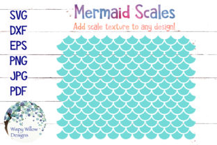 Mermaid Scales SVG Graphic By WispyWillowDesigns