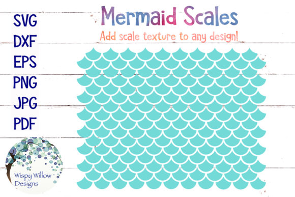 Mermaid Scales Graphic Crafts By WispyWillowDesigns