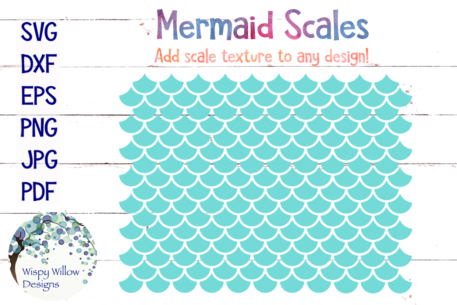 Download Free Mermaid Scales Svg Grafico Por Wispywillowdesigns Creative Fabrica for Cricut Explore, Silhouette and other cutting machines.