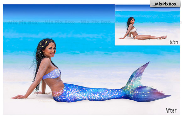 Print on Demand: Mermaid Tail Overlays Graphic Layer Styles By MixPixBox - Image 3