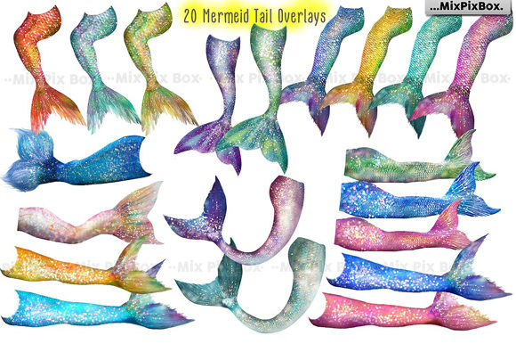 Print on Demand: Mermaid Tail Overlays Graphic Layer Styles By MixPixBox - Image 4
