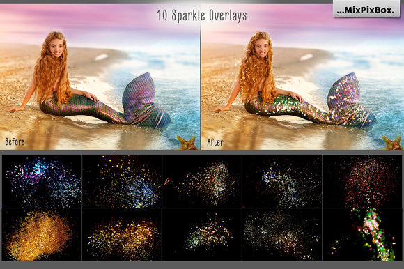Print on Demand: Mermaid Tail Overlays Graphic Layer Styles By MixPixBox - Image 6