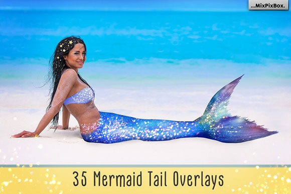 Print on Demand: Mermaid Tail Overlays Graphic Layer Styles By MixPixBox