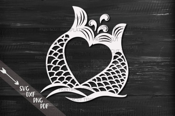 Mermaid Tails Heart Svg Graphic Crafts By Cornelia