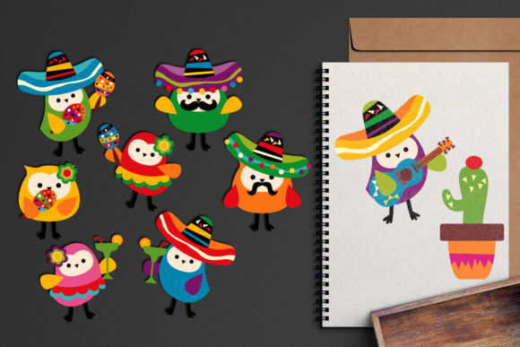 Download Free Mexico Owls Cinco De Mayo Graphic By Revidevi Creative Fabrica for Cricut Explore, Silhouette and other cutting machines.