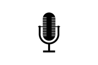 Download Free Microphone Icon Vector Grafik Von Hoeda80 Creative Fabrica for Cricut Explore, Silhouette and other cutting machines.