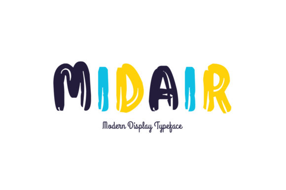 Print on Demand: Midair Display Font By Spanking Fonts