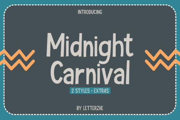 Print on Demand: Midnight Carnival Display Font By letterzhe