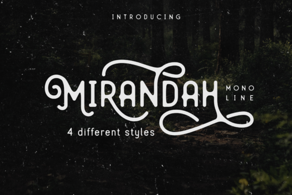 Print on Demand: Mirandah Family Sans Serif Font By Arterfak Project
