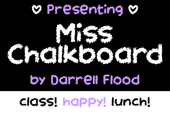 Print on Demand: Miss Chalkboard Decorative Font By Dadiomouse