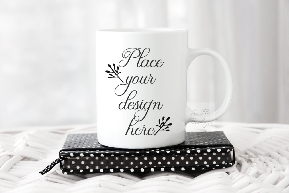 Download Free Modern Feminine Coffee White Mug Stock Photo Graphic By Leo Flo for Cricut Explore, Silhouette and other cutting machines.