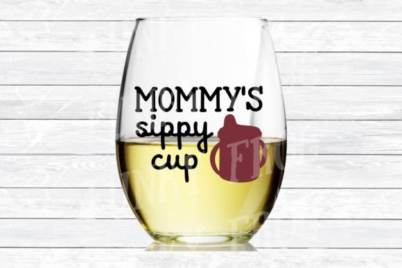 Mommy's Sippy Cup Wine SVG Graphic Crafts By funkyfrogcreativedesigns - Image 3