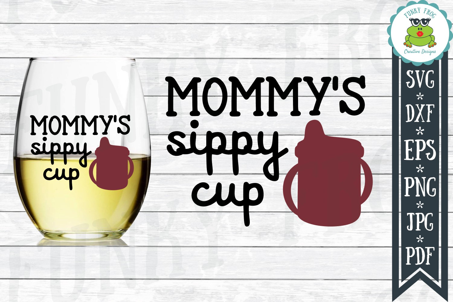 Download Free Mommy S Sippy Cup Wine Svg Graphic By Funkyfrogcreativedesigns for Cricut Explore, Silhouette and other cutting machines.
