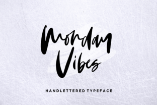 Monday Vibes Font By Sronstudio